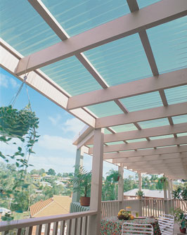 Polycarbonate patio roof panels
